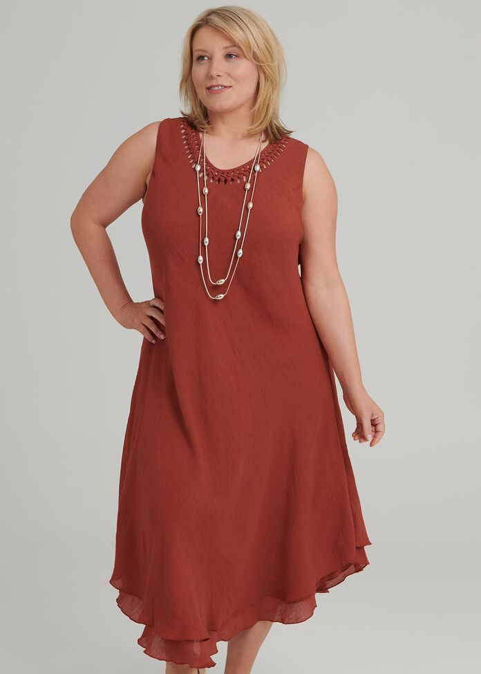 Petite Plait Neck Dress, , hi-res