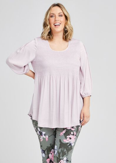 Mantra Luxe Shirred Tunic