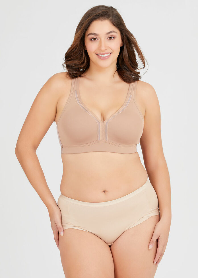 Wirefree Cooling Lounge Bra Sizes 20-24, , hi-res