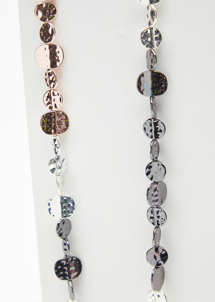 Fine Metal Bead Necklace, , hi-res