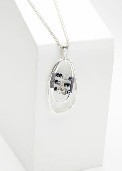 Crystal Bead Pendant Necklace