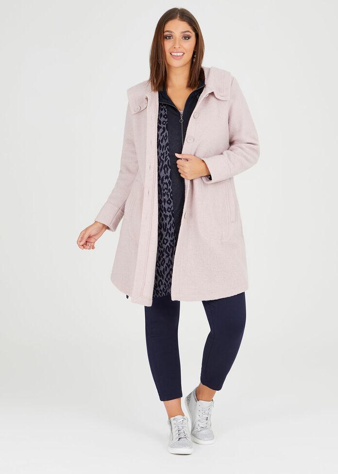 Lola Boiled Wool Coat, , hi-res