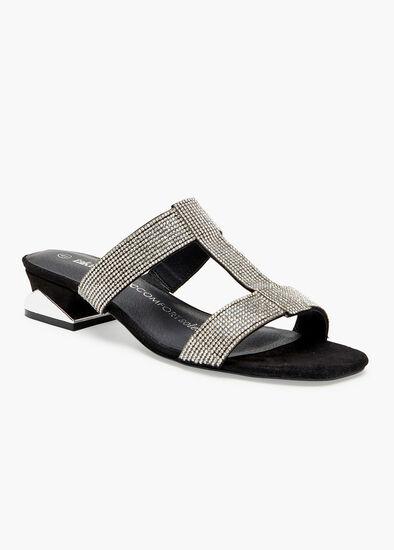 Bling Strappy Heel Sandal