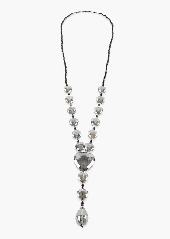 Crystal Hearts Necklace, , hi-res