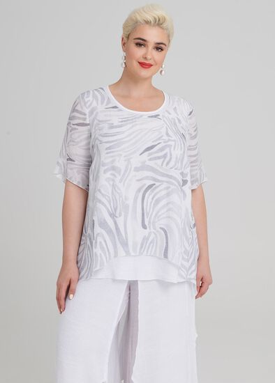 Soft Zebra Tunic