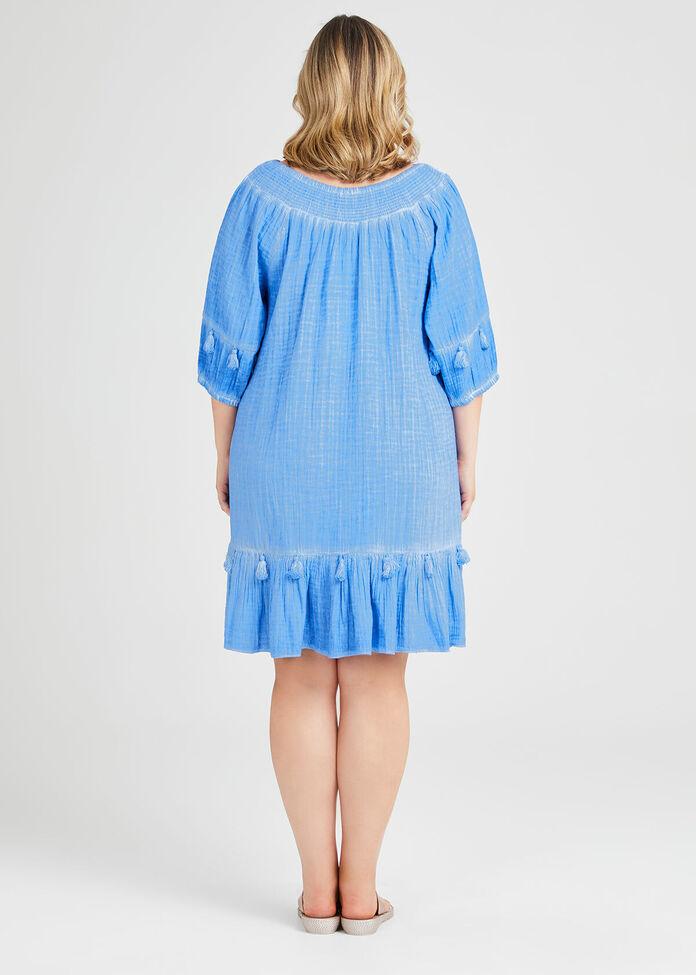 Pigment Blue Coverup, , hi-res