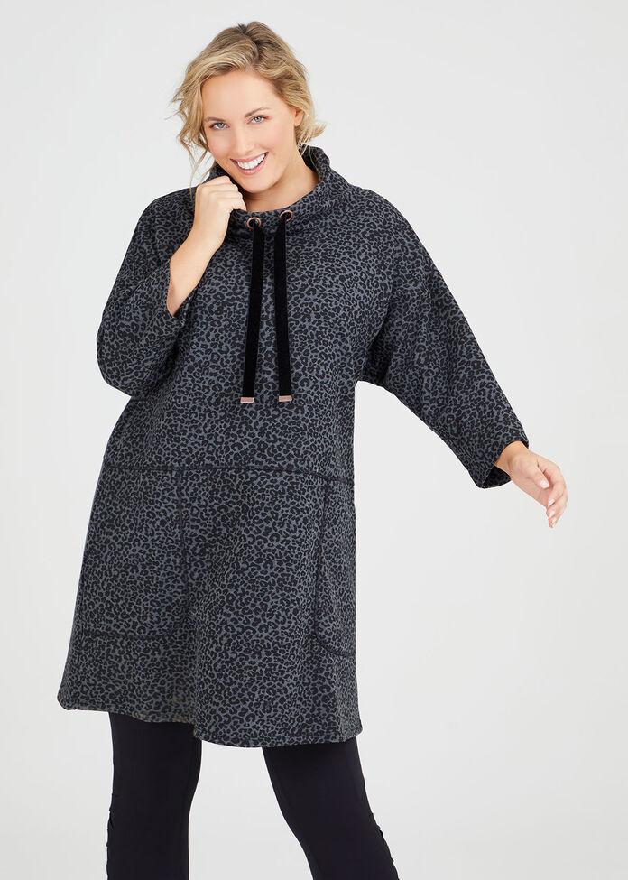 Animal Sweat Tunic Dress, , hi-res