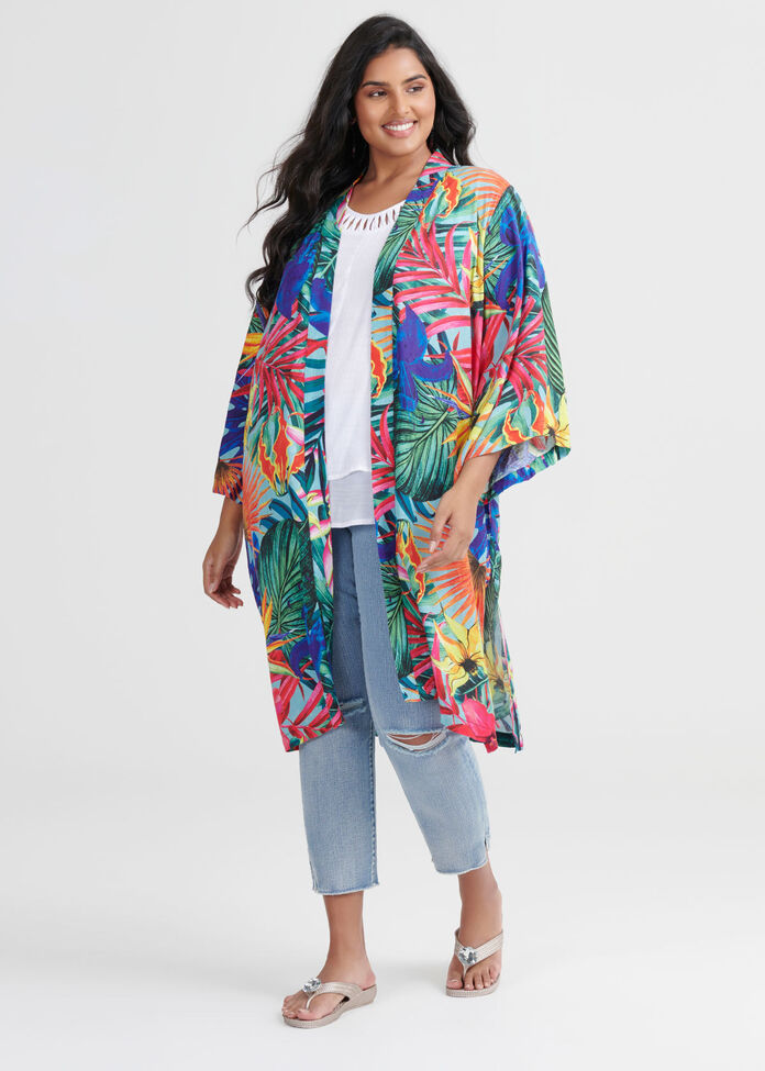 Natural Tropical Kimono, , hi-res