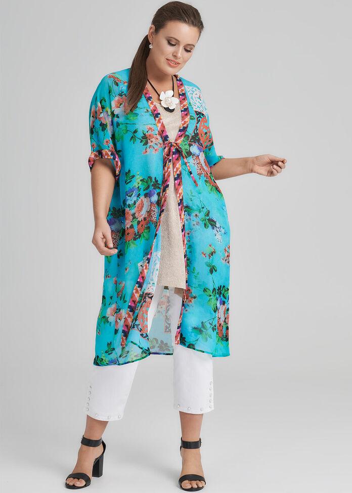 Oriental Blossom Kimono, , hi-res