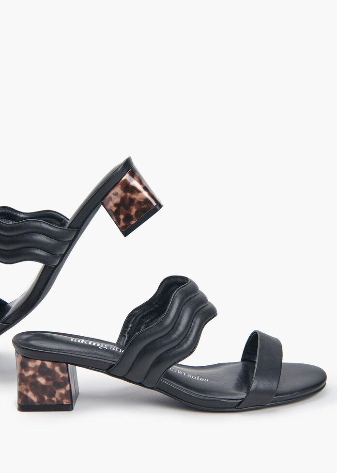 Sleek & Scalloped Sandal, , hi-res
