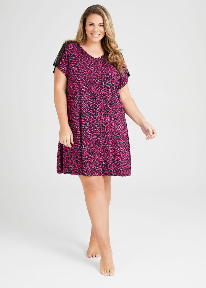 Bamboo Lace Nightie, , hi-res