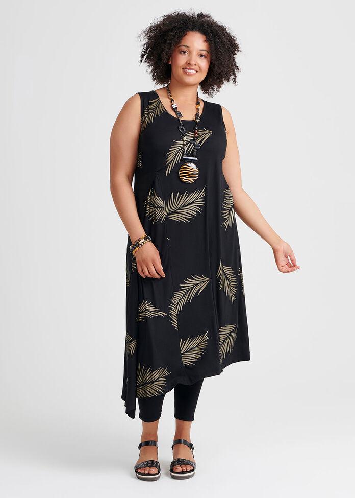 Bamboo Gold Leaf Dress, , hi-res