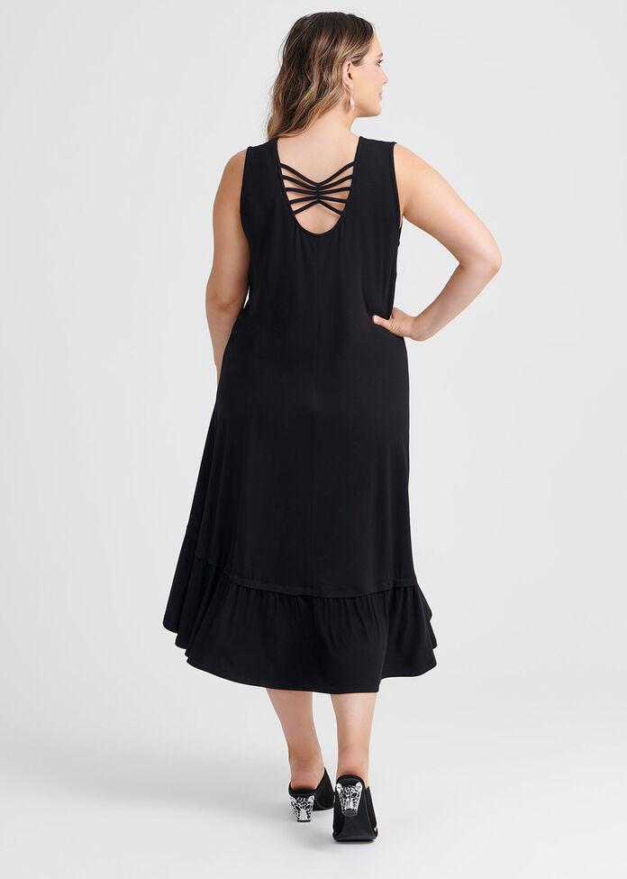 Bamboo Lattice Dress, , hi-res