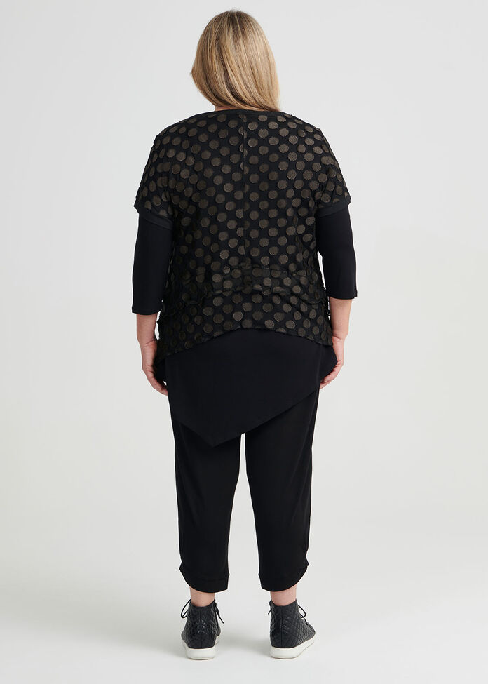 Shira Spot Mesh Top, , hi-res