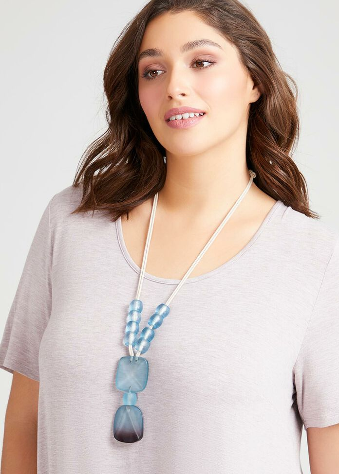 Frosted Turquoise Necklace, , hi-res