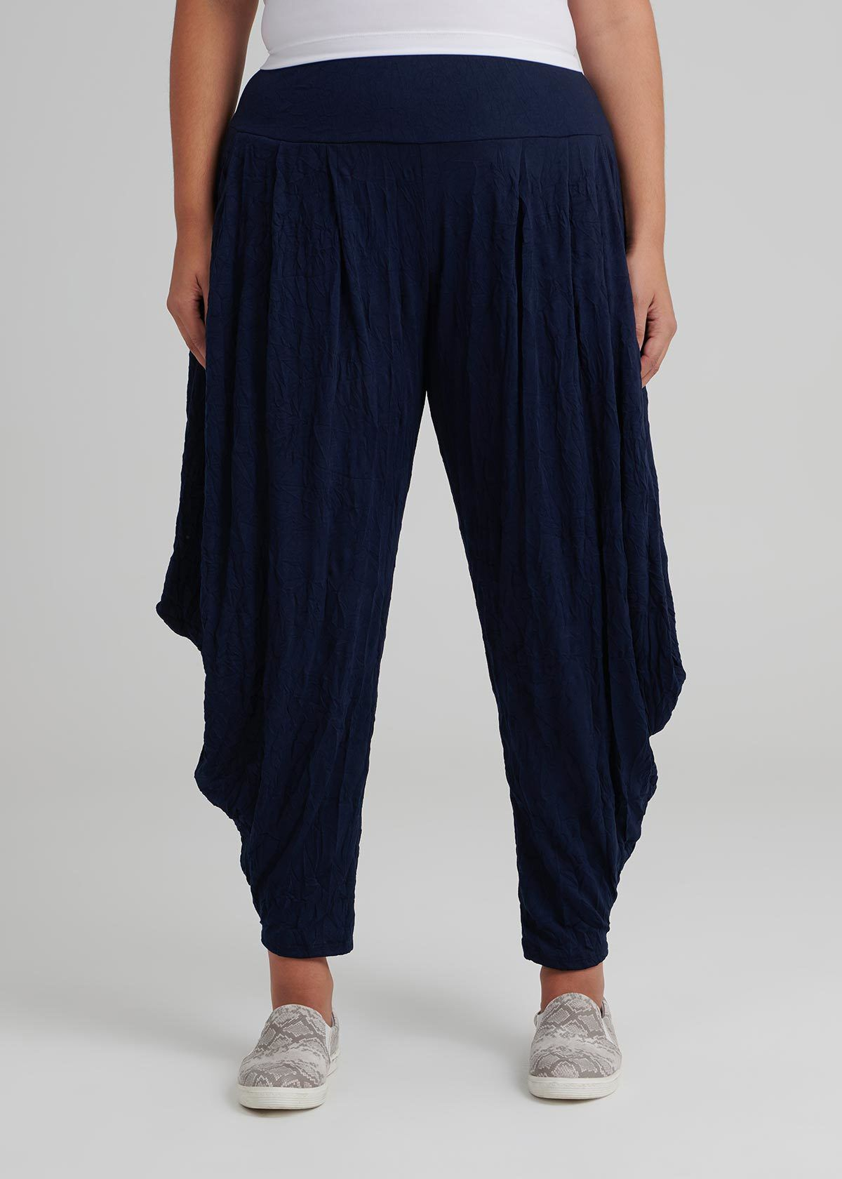 Plus Size 12-24 Back Elasticated Trousers with Side Pockets ON OFFER
