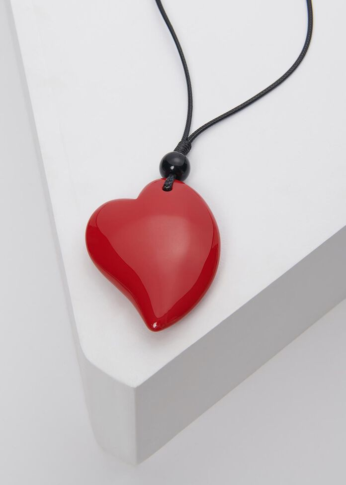 Dome Heart Necklace, , hi-res