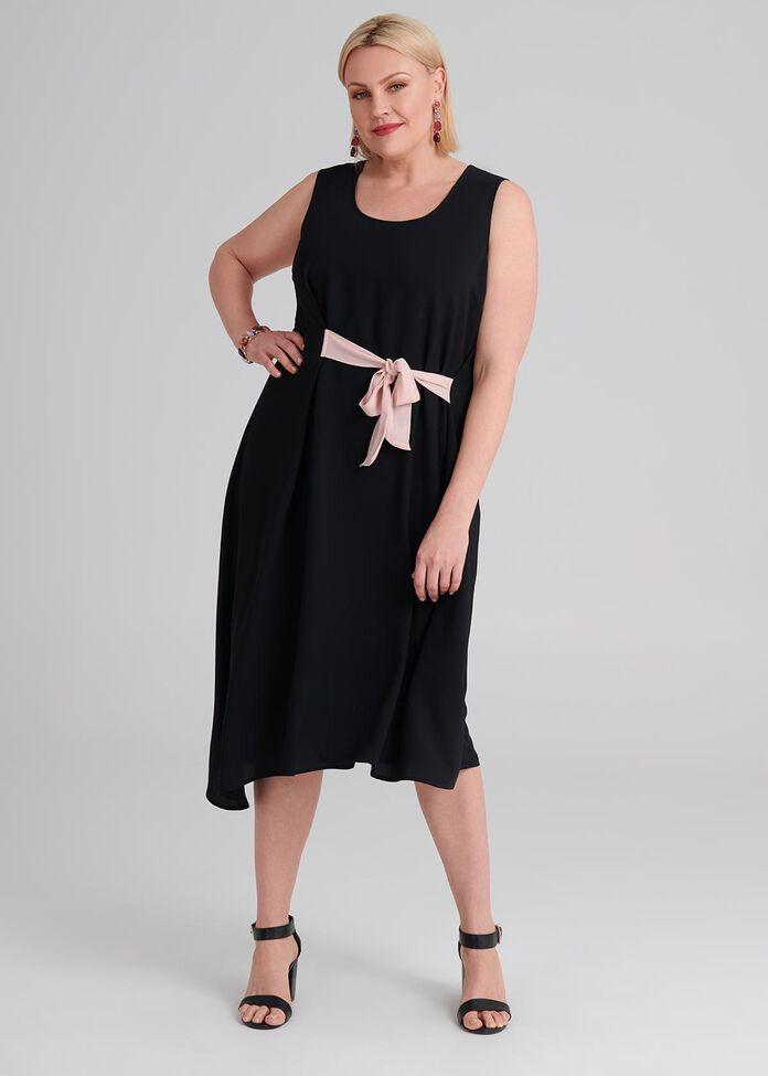 Peony Tie Dress, , hi-res