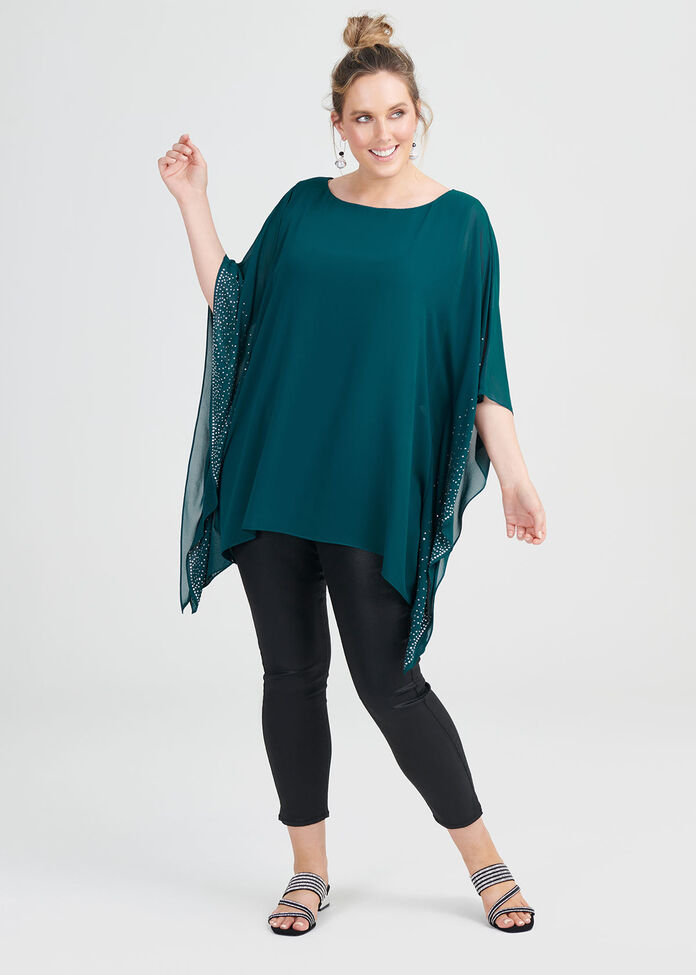 Ali Beaded Georgette Top, , hi-res
