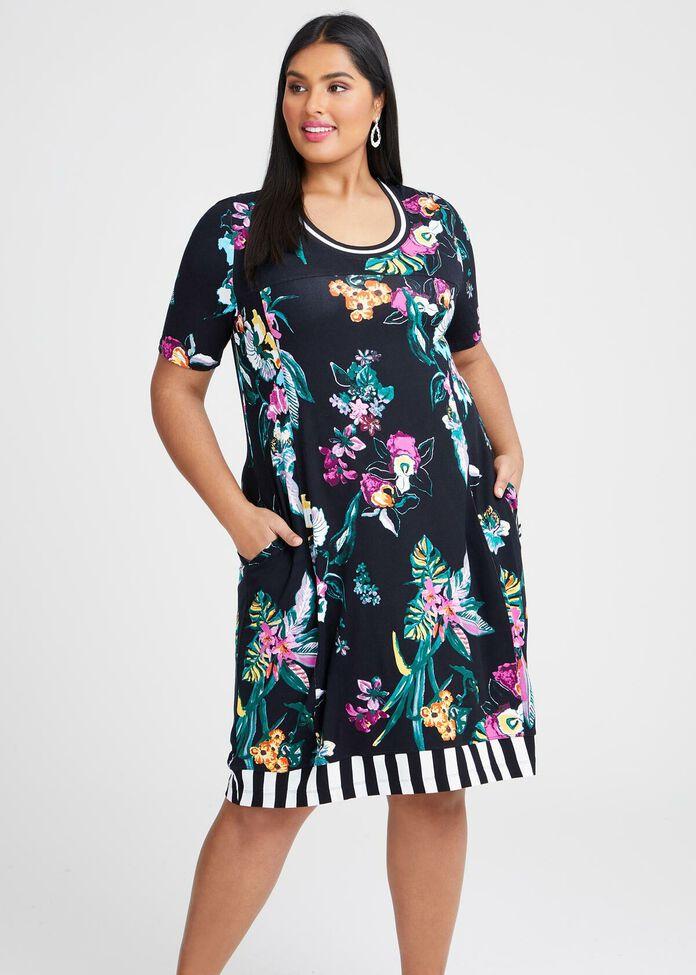 Natural Floral Fever Dress, , hi-res