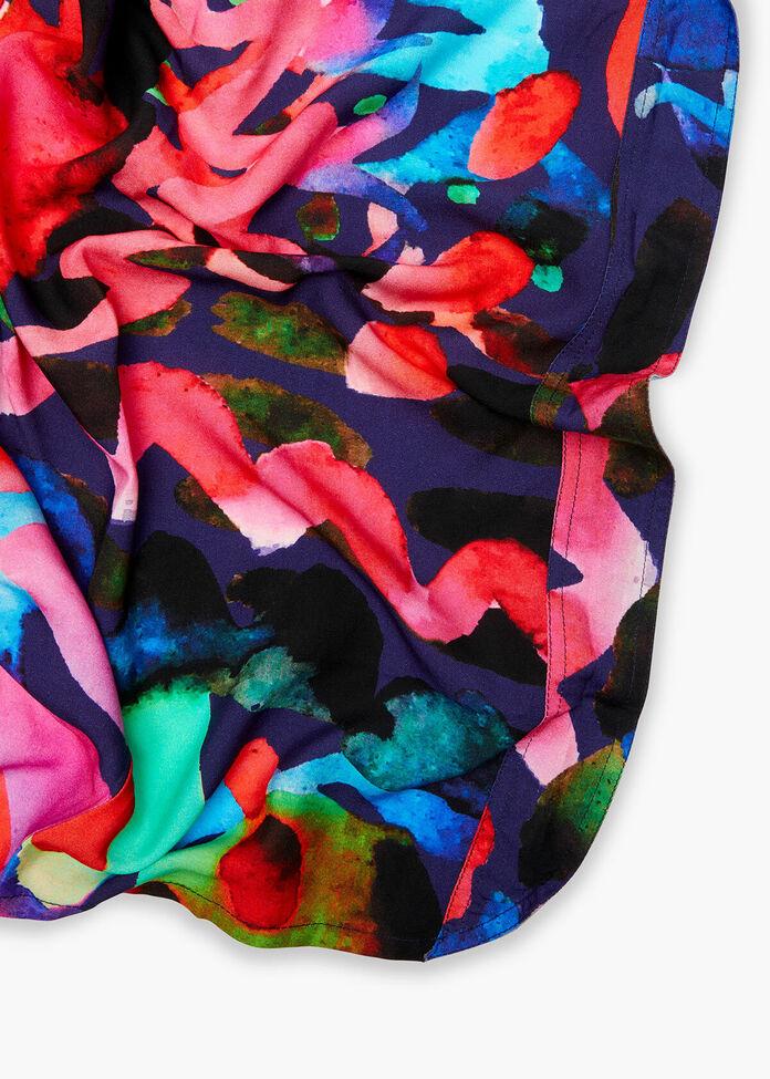 Bright Watercolour Print Shrug, , hi-res