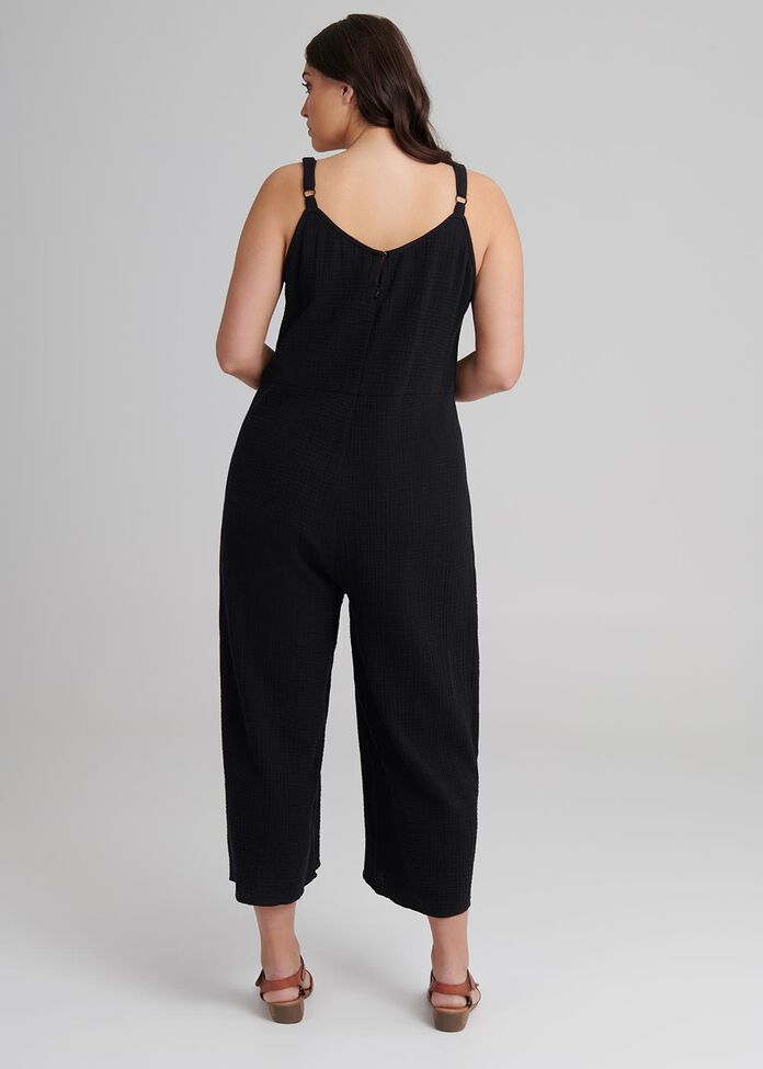 Cotton Malta Jumpsuit, , hi-res