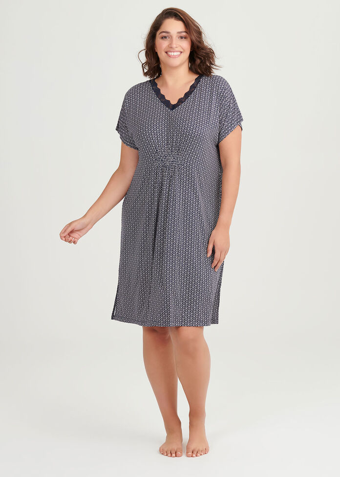 Bamboo Ditsy Nightie, , hi-res