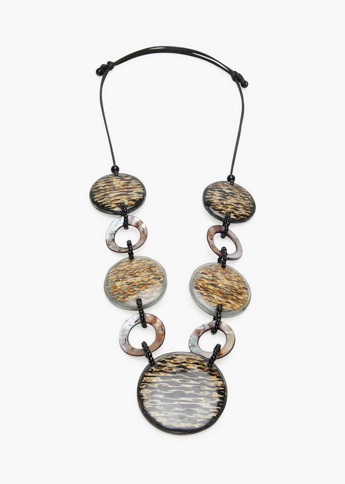 Circles Resin Necklace, , hi-res