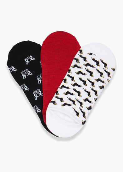 Set/3 Bamboo Dog Socks