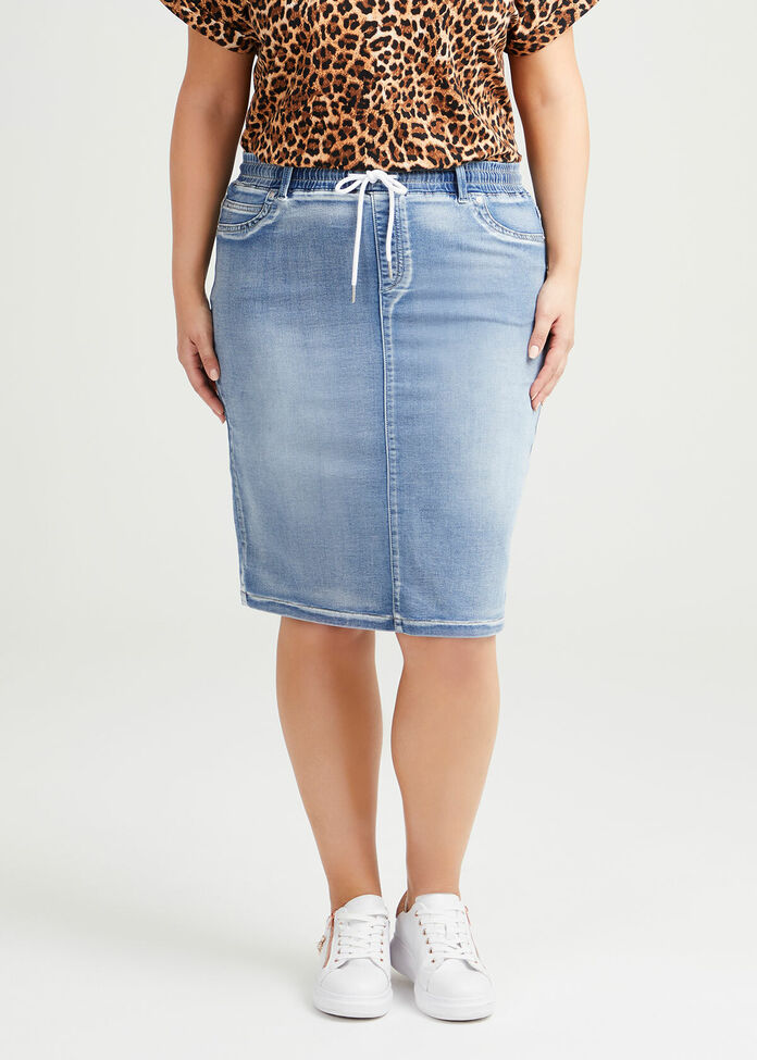 The Relaxed Denim Skirt, , hi-res
