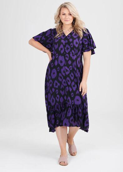 Natural Ikat Print Dress