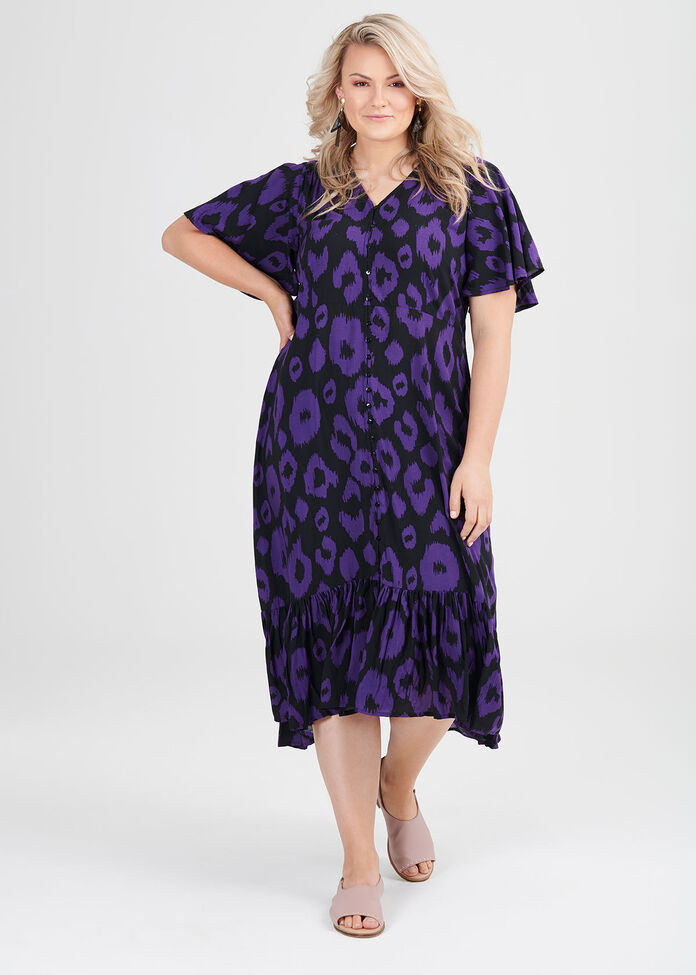 Natural Ikat Print Dress, , hi-res