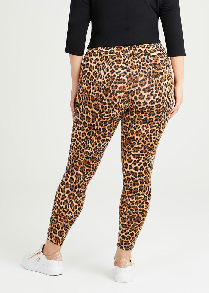 Organic Leopard Leggings, , hi-res