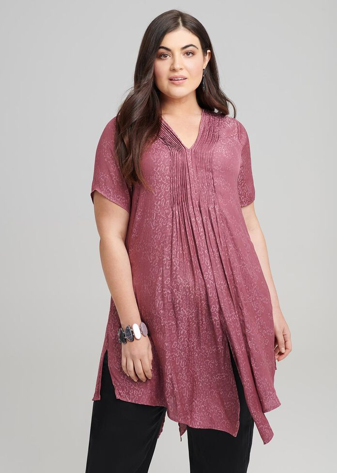 Luxe Jacquard Tunic, , hi-res