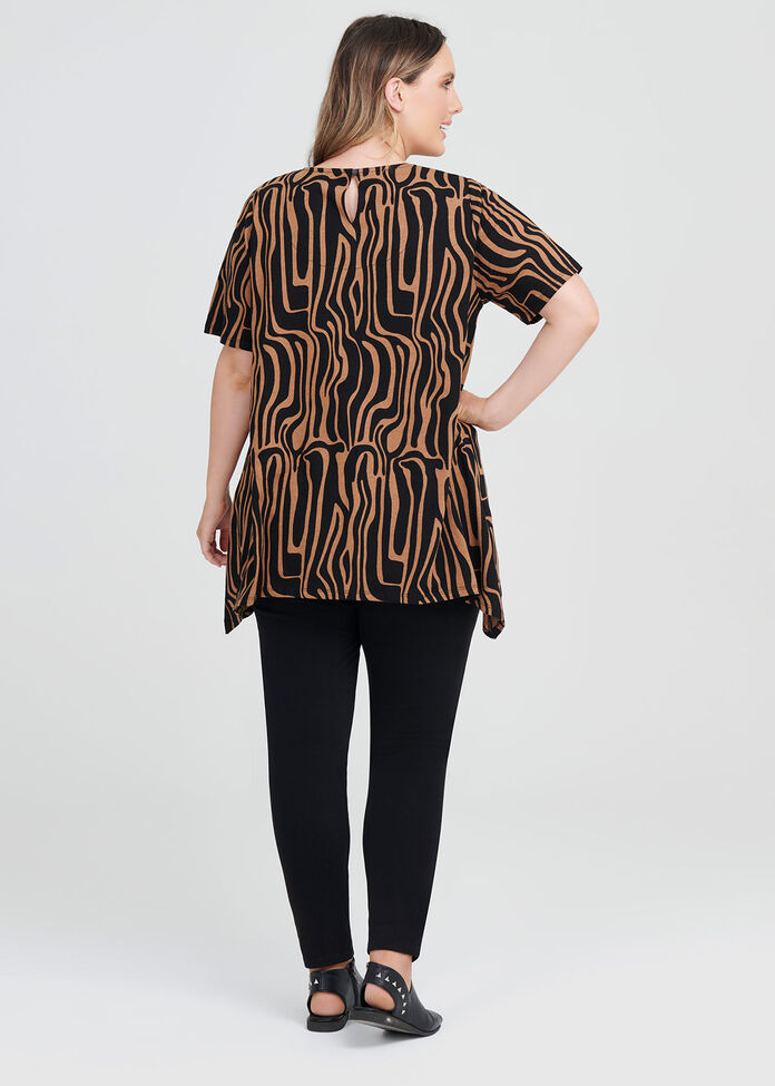 Linen Knit Zebra Top, , hi-res