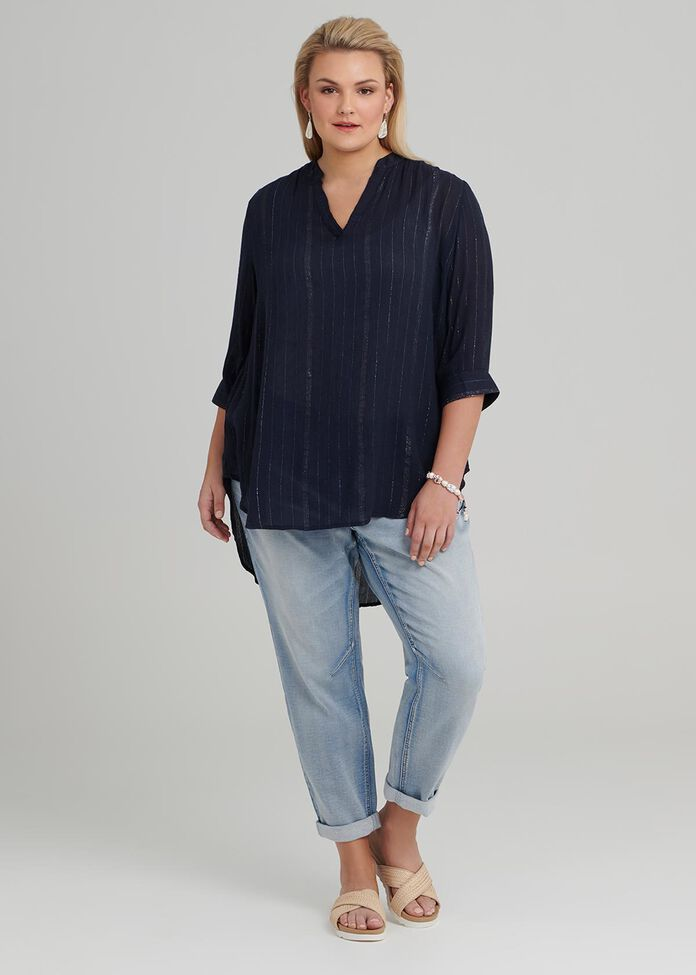 Lurex Stripe Tunic, , hi-res