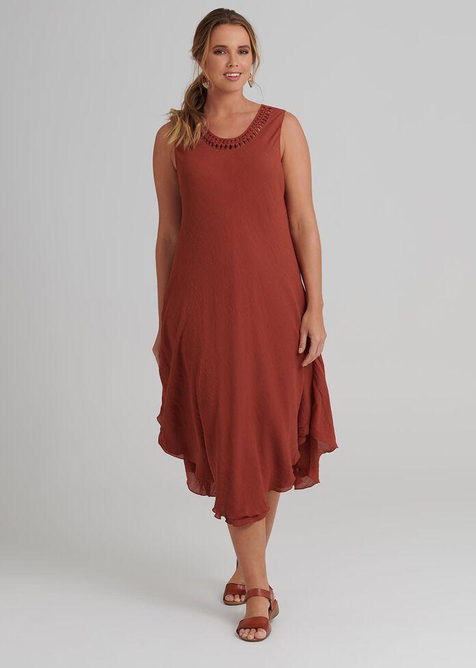 Petite Plait Neck Dress, , hi-res