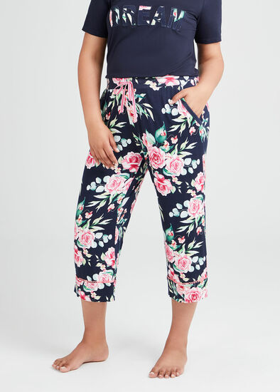 Bamboo Bouquet Pyjama 3/4 Pant