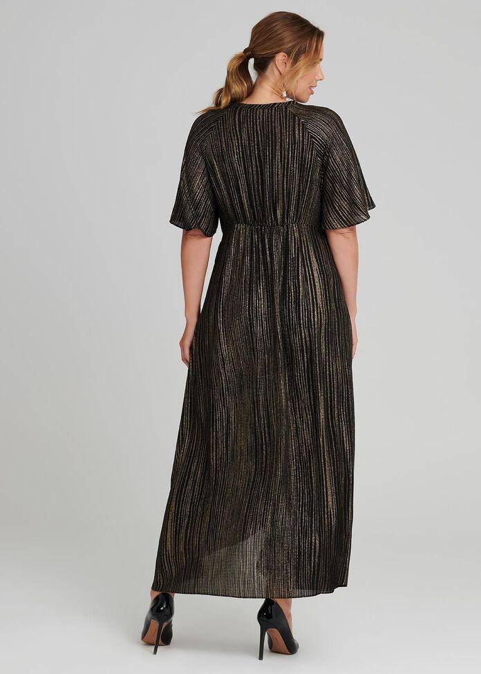 Linear Wrap Dress, , hi-res
