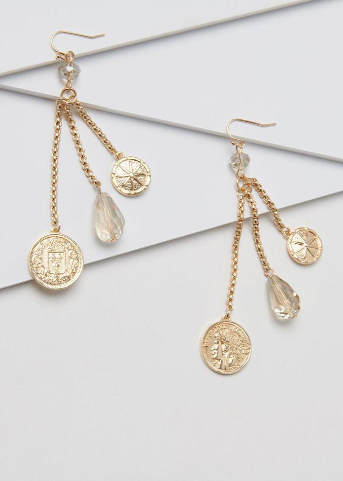 Coin A Phrase Earrings, , hi-res