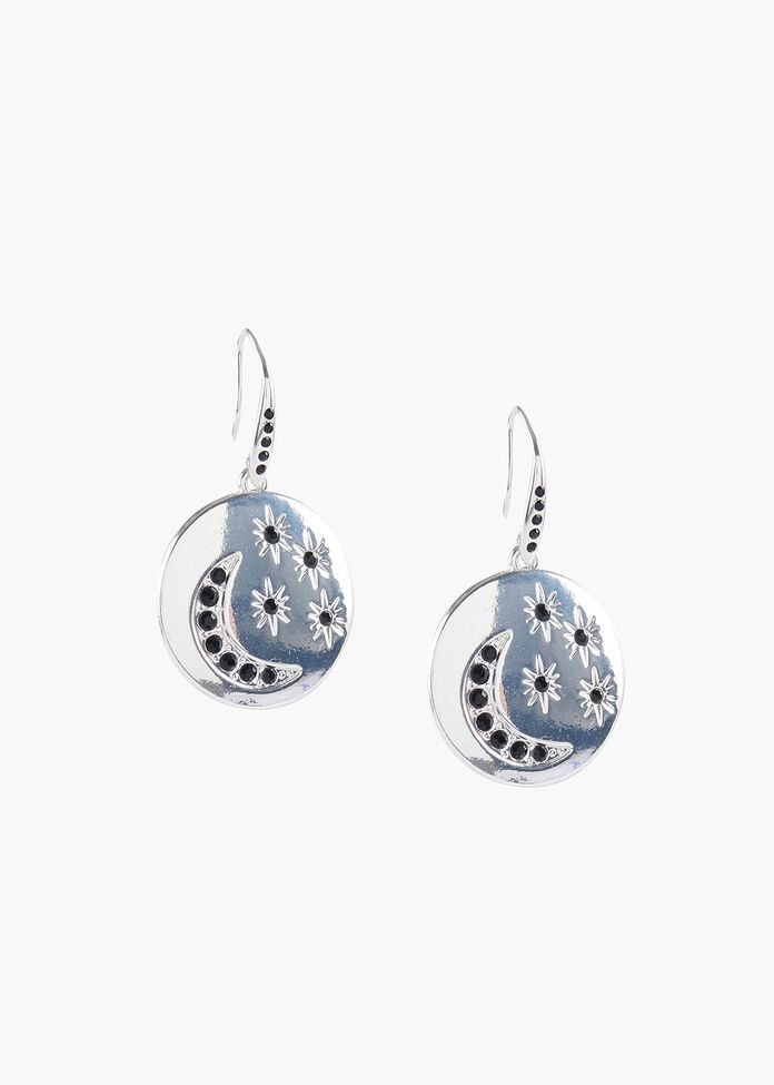 Star & Moon Earrings, , hi-res
