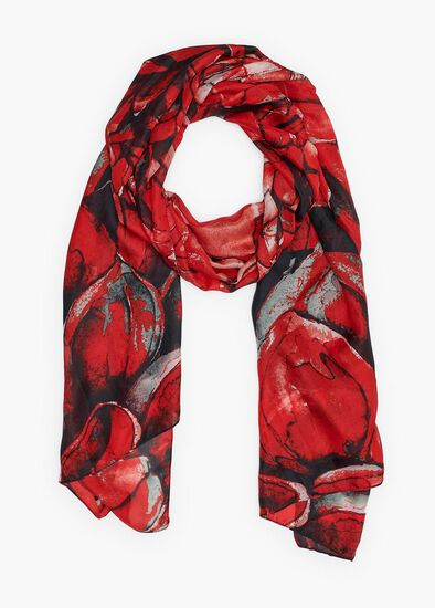 Open Bloom Silk Scarf