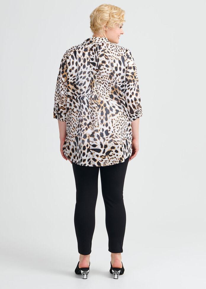 Cotton Animal Foil Shirt, , hi-res