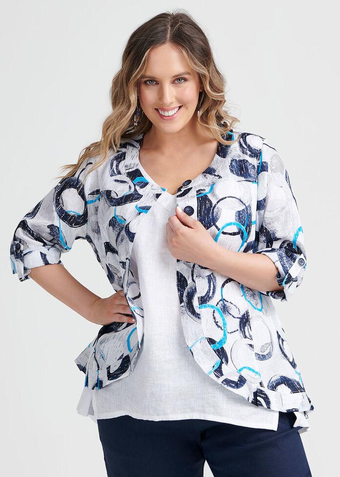Linen Breezy Jacket, , hi-res