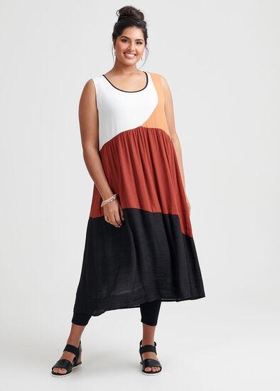 Spliced Spice Dress
