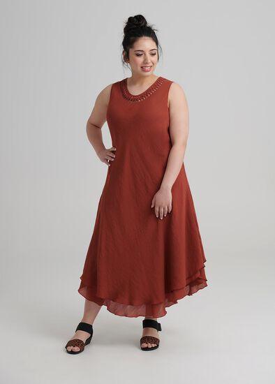 Petite Plait Neck Dress