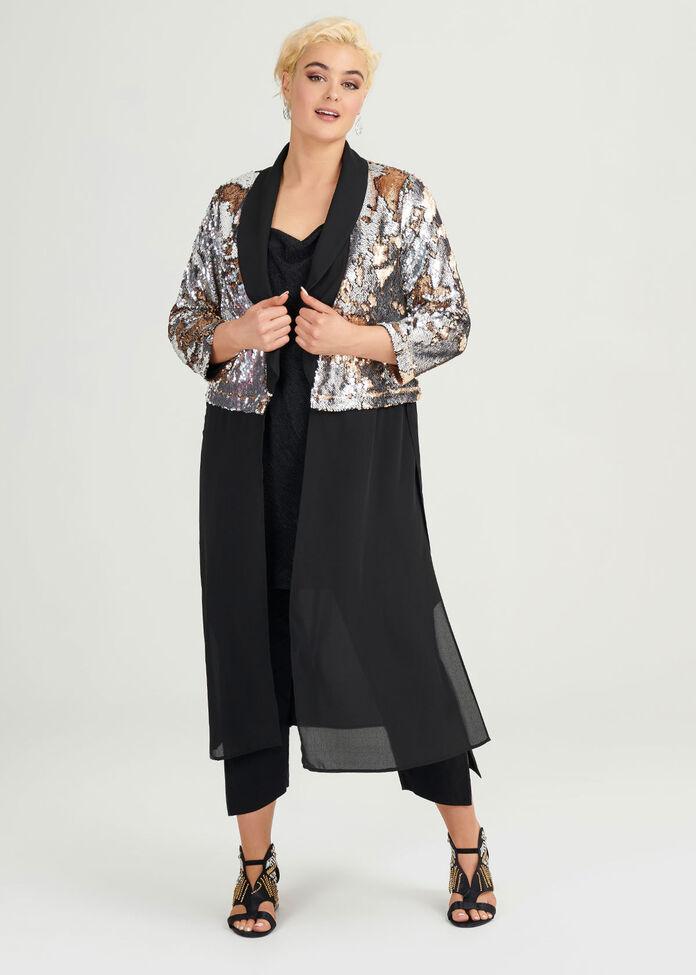 Sequins Glitter Jacket, , hi-res