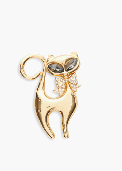 Madame Purr Brooch