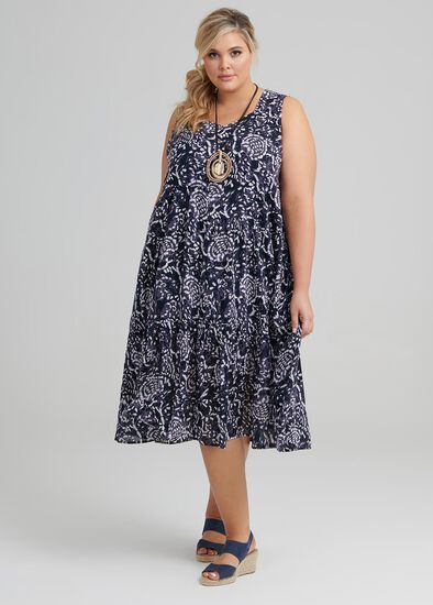 Paisley Blues Dress