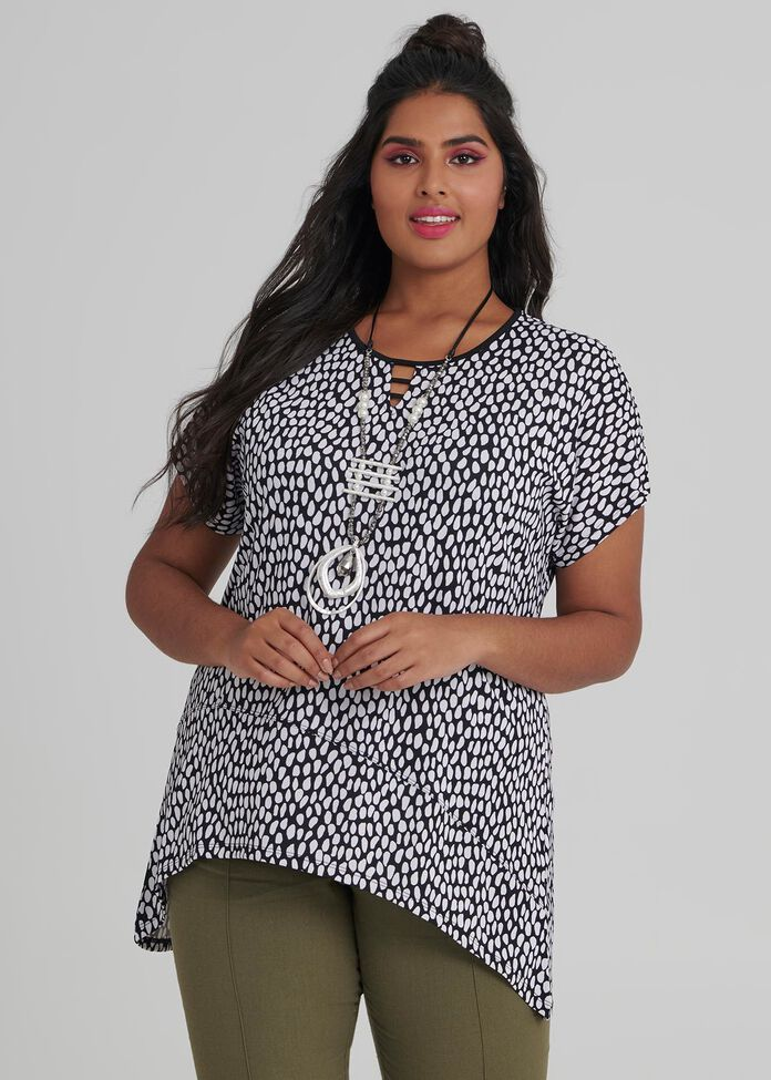 Pebble Print Top, , hi-res